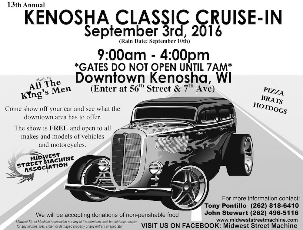 Kenosha Classic CruiseIn Car Show Circle Of Hope - Any car shows near me